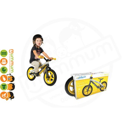 CHILLA FISH BMXie Fibre Glass Balance Bike Thunderball Lightnling Yellow 2-5yrs