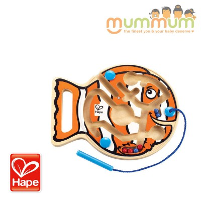Hape Magnetic Marbles Hand-held Maze Go Fish Go