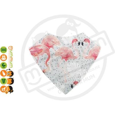 Eversweet Dribble Bib Tropical Flamingo
