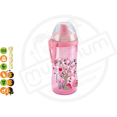 Nuk Flexi Cup Soft Straw Pink 300ml