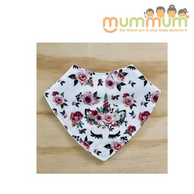 Eversweet Dribble Bib Foral Unicorn
