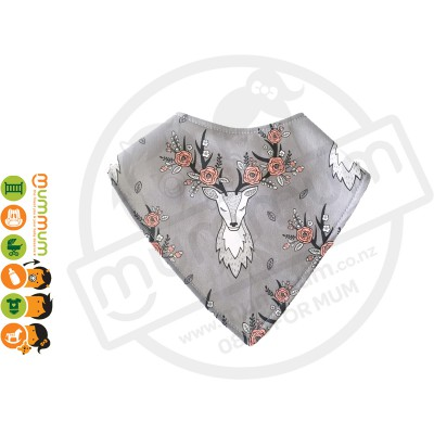 Eversweet Dribble Bib Floral Deer