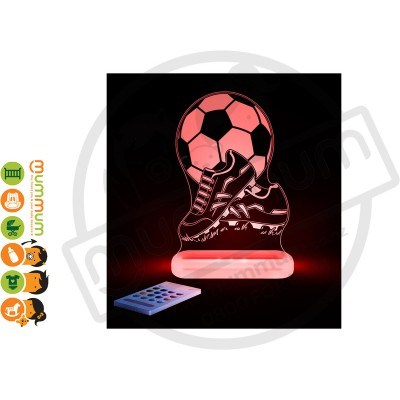 Aloka Night Light Football Multi Colour With Remote Control