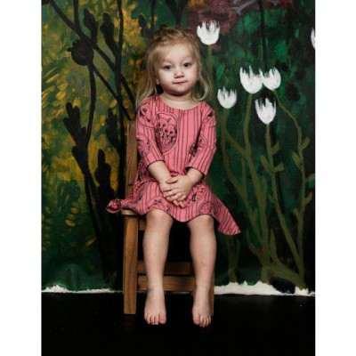 Mini Rodini Fox Family Dress - Pink