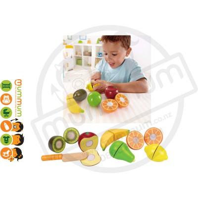 Hape Kids Wooden Fresh Market Fruit Pretend Play