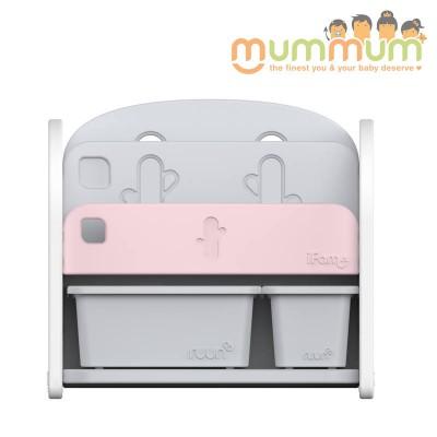 iFam Easy Doing Front Bookshelf 2 Pink  H62.5 X W68 X D36cm
