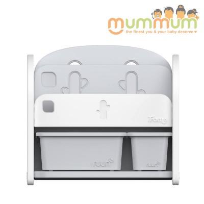 iFam Easy Doing Front Bookshelf 2 White  H62.5 X W68 X D36cm
