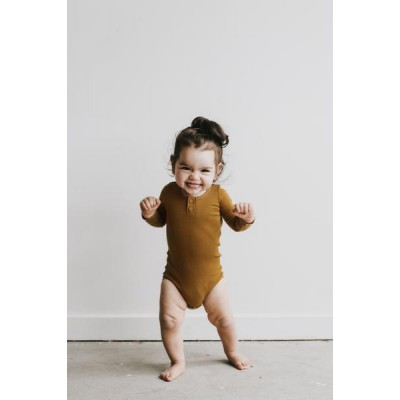 Jamie Kay Cotton Modal Essentials Bodysuit - Golden
