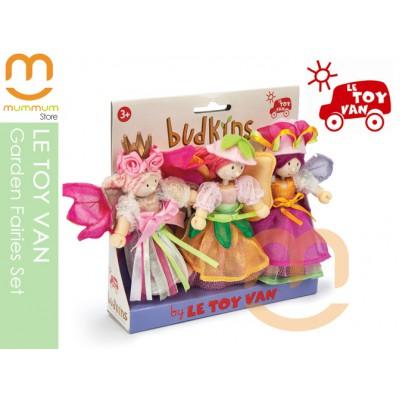 Le Toy Van Garden Fairy Set Wooden Fairies Dolls