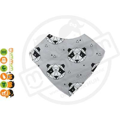 Eversweet Dribble Bib Geometric Panda