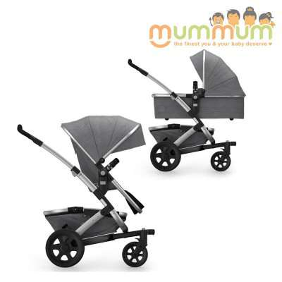 Joolz Geo2 Studio Collection Graphite (Incl:Chasis Upper Bassinet, Upper seat, Storage basket)