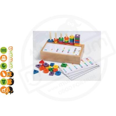 Child Friend Wooden Toy Geometric Set 36 pieces 3+