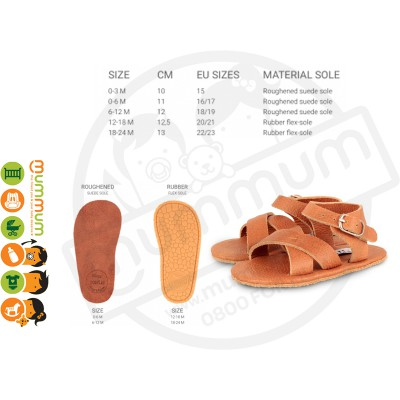 Donsje Giggles Sandal Leather Cognac
