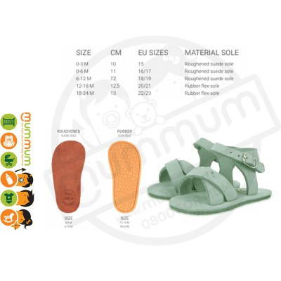 Donsje Giggles Sandal Leather Light Grey