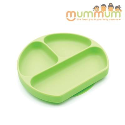 Bumkins Silicone Grip Dish Green