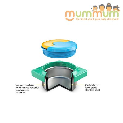 Omielife Lid for Jar Green, not included stainless steel bowl