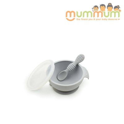 Bumkins First Feeding Set- Grey