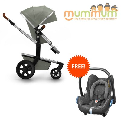 Joolz Day2 Pram Earth Elephant Grey with free capsule