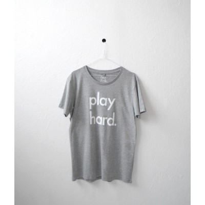 Nor Folk T Shirt Adult Play Hard Grey Made in UK