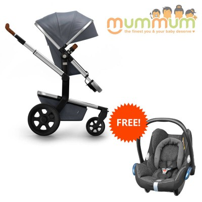 Joolz Day2 Pram Studio Collection Gris (Incl: Chassis, Bassinet, Seat, Storage basket) Dutch Made