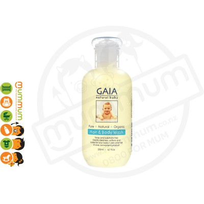 Gaia Hair & Body Wash For Baby 200ML (soap & sulphate free)