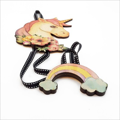 Crystal Ashley hirclip tidy unicorn