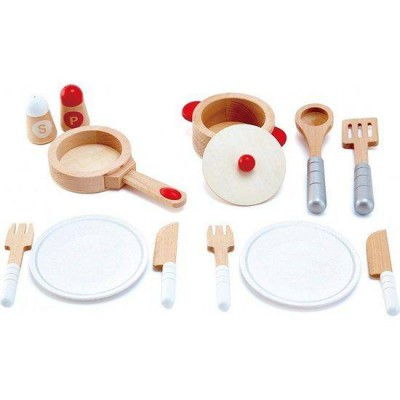 Hape Wooden Gourmet Kitchen Starter Cookware Set 13pcs