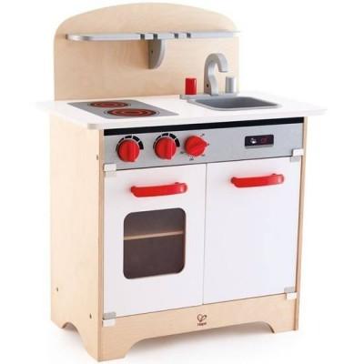 Hape Kids Pretend Play Wooden Goumet Kitchen White