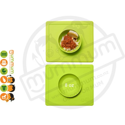 EZPZ Silicone Happy Bowl Placemat & Bowl in One - Lime