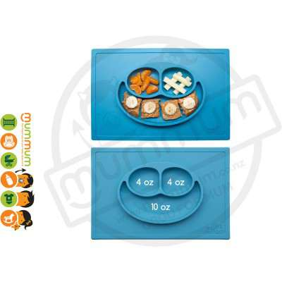 EZPZ Silicone Happy Mat Placemate & Plate in One - Blue