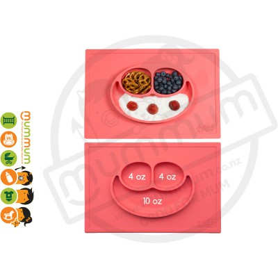 EZPZ Silicone Happy Mat Placemate & Plate in One - Coral