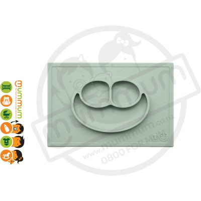 EZPZ Silicone Happy Mat Placemate & Plate in One - Sage
