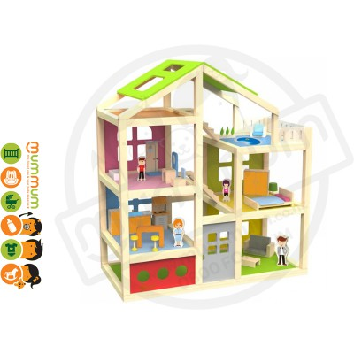 Classic World Happy Villa Wooden Play House 3Y+