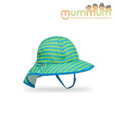 Sunday Afternoon Infant SunSprout Hat (Blue/Green) 0-6mths