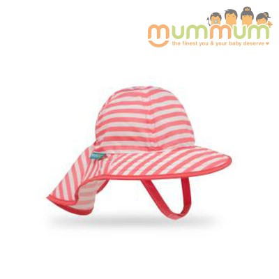 Sunday Afternoon Infant SunSprout Hat (Coral/White) 0-6mths