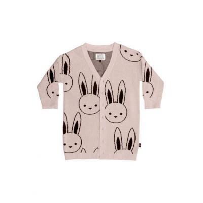 Huxbaby Bunny Knit Cardi  Tearose 1-5y