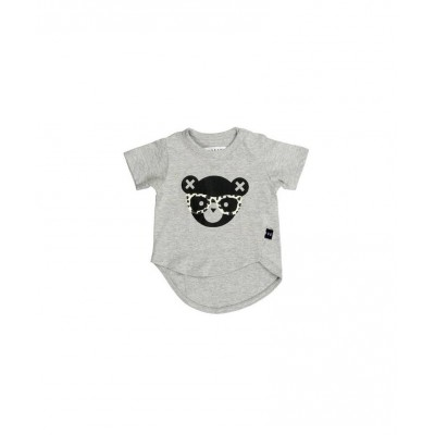 Huxbaby Grey Asymmetric T-shirt Grey Marle 2-5y