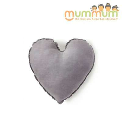 Nana & Huchy Heart Cushion Grey 45cm
