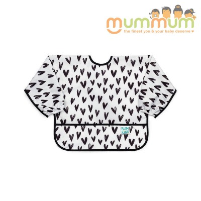 Bumkins Sleeved bib Hearts