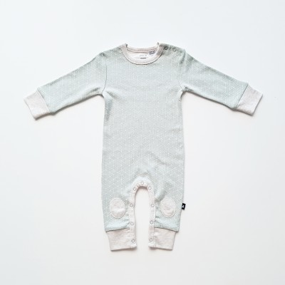 Anarkid Romper Hexagon Contrast Patch Sea Foam