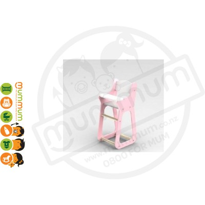 Moover Line Highchair Pink