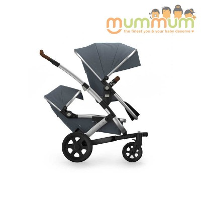Joolz Geo2 Hippo Grey FREE raincover for JUNE (Inc Chasis Upper Bassinet, Upper seat, Storage basket)