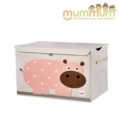 3 Sprouts Toy Chest Hippo  61X 37X 38cm