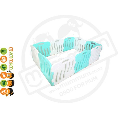 iFam Shell Baby Room Playpen Mint + White (10PCS) L2.1x W1.3XH60 Made in Korea