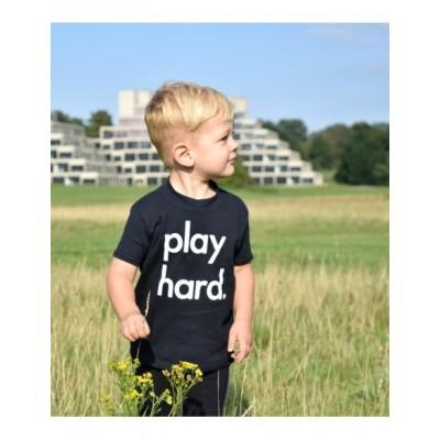 Nor Folk T Play Hard Black Children Made in UK