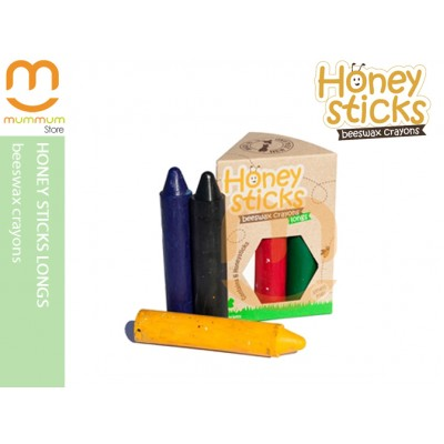 Honey Sticks Beeswax Crayons Contains 6 Colors