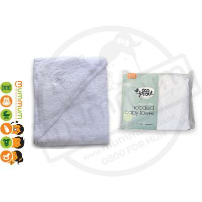 Eco Sprout Organic Hooded Baby Towel 1PK