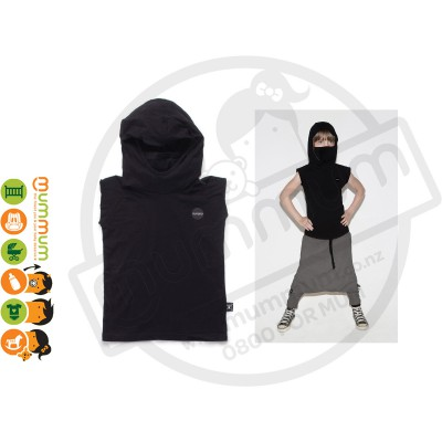 Nununu Hooded Ninja Shirt Black