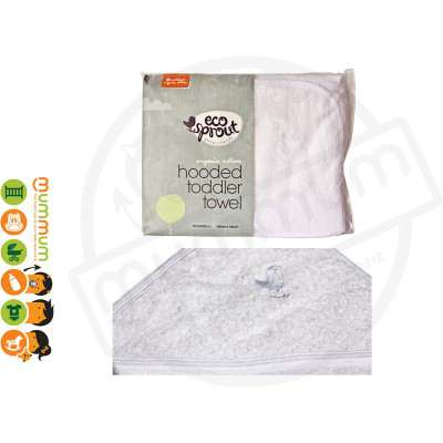 Eco Sprout Organic Cotton Hooded Toodler Towel 1pk