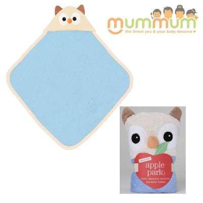 Apple Park Hooded Towel - Owl, Organic Cotton